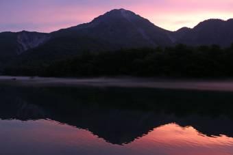 大正池の夕焼け