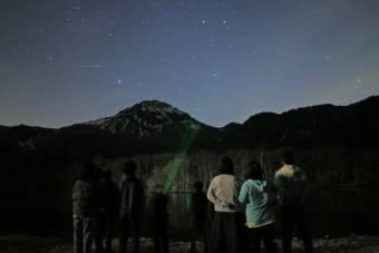 星降る夜空の鑑賞会~大正池から見る上高地の夜空~を行いました。